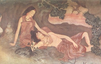 Savitri and Satyavan by Ardhenduprasad Banerji